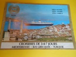 Plaquette De Présentation / Croisiéres/Sunline/Stella/Mediterranée-Iles Grecques-Turquie/1970      MAR38 - Sports & Tourisme