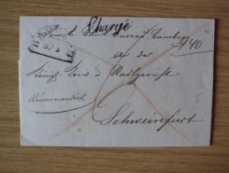1846, BELEG Mit HALBKREISSTEMPEL Von BAMBERG, CHARGÉ Nach SCHWEINFURT Gelaufen - [1] Precursores