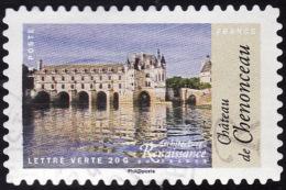 FRANCE  2015 - YT  1117 -   Chenonceau  - Lettre Verte  - Oblitéré - Francia