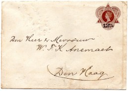INDES NEERLANDAISES : Entier Postal Sur Enveloppe Avec Surcharge ( 2 Scans ) - Indes Néerlandaises