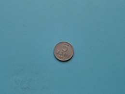 1963 - 5 Bani / KM 89 ( Uncleaned - For Grade, Please See Photo ) ! - Roumanie