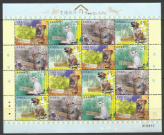 Macau Chine 2014 Protection Des Animaux Chien Chat Feuillet ** Macao China Animal Protection Dog Cat Sheetlet ** - 1999-... Chinese Admnistrative Region