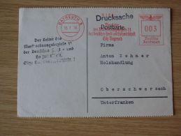 15.07.1938, POSTKARTE Mit FREISTEMPEL DER LEITER DES MARKTORDNUNGSBEZIRKS 11, DEUTSCHE FORST-UND HOLZWIRTSCHAFT BAYREUTH - Cartas