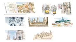 6 Blocs Souvenirs N°38 à 43 Lisbonne Monastère Des Hiéronymites 2009 - Souvenir Blocks & Sheetlets