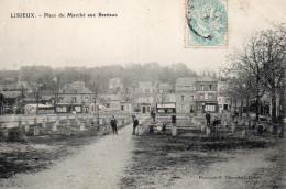 1810. CPA 14 LISIEUX. PLACE DU MARCHE AUX BESTIAUX - Lisieux