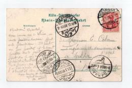 Cp De Wiesbaden Pour SAKHA  1908 - 1866-1914 Khedivate Of Egypt
