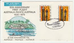 Port Vila 1976 - Anniversaire Vol Australie Hebrides Australia - Leyenda Francesa