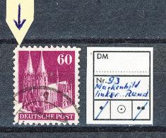 Amerikanische Und Britische Zone Michel Nr. 93 I W B Bauten 60 (Pf.) Am Linken Rand Ist Zusätzlich Eine Senkrechte Linie - Bizone