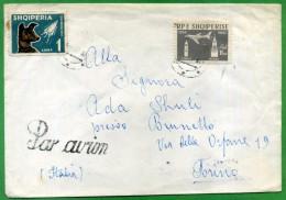 1962  11,50 Lek + 1  PAR AVION - Albanien