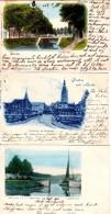 BREDA 3 Cartes Seelig Singel Postkantoor En Vischmarkt  1900 Academiesingel - Breda