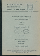 LIVRE Belgique - Raddagtekeningstempels OOST VLAANDEREN , Letter B-D , 90 P. , 1990 -  TB Etat  --  15/292 - Filatelie En Postgeschiedenis
