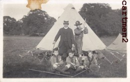 CARTE PHOTO : CAMP DE SCOUT ECLAIREURS SCOUTISME ENGLAND - Scouting