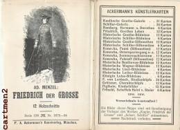 SERIE 12 AK : A.D MENZEL FRIEDRICH DER GROSSE KUNSTLER POSTDAM SANSSOUCI FRITZ BUNZELWITZ LISSA DEUTSCHLAND HISTOIRE - Geschichte