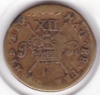 Irlande Civil War, Shilling 1689, JAMES II, Brass, KM# 94 - Ireland
