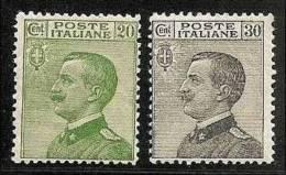 1925 Italia Italy Regno MICHETTI 20c + 30c MH* - 1900-44 Victor Emmanuel III.