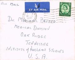 18150. Carta Aerea BIRMINGHAM (England) 1955 To USA - 1952-.... (Elizabeth II)