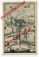PROPAGANDE All.-SEMEUR-LANCEUR De GRENADE-WIR-NOUS-CARICATURE-SATIRE-DESSIN-Carte All.-Guerre 14-18-1 WK-Militaria- - Oorlog 1914-18