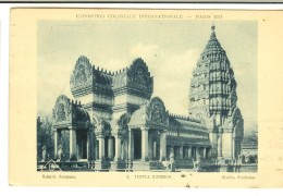Braun & Cie 2 - Expo Coloniale Internationale Paris 1931 : Temple D´Angkor -2 Scans Semeuse 25c + Flamme - Exposiciones