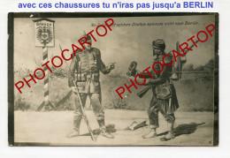 PROPAGANDE Allemande-CARICATURE-SATIRE-DESSIN-Carte Photo Allemande-Guerre 14-18-1 WK-Militaria- - Oorlog 1914-18