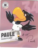 Rewe Coupe Du Monde World Cup 2014 - N° 34 PAULE MASKOTTCHEN - Andere Sammlungen