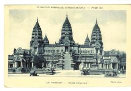 Braun & Cie 248 - Expo Coloniale Internationale Paris 1931 :  Angkor-Vat, Facade Principale -2 Scans Timbre Expo 40c - Exposiciones
