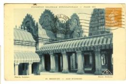 Braun & Cie 45- Expo Coloniale Internationale Paris 1931 :  Angkor-Vat, Cour Intérieure  - Timbre Semeuse 25c Recto - Exposiciones