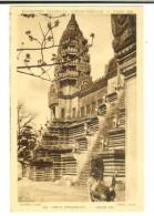 Braun & Cie 136- Expo Coloniale Internationale Paris 1931 :  Angkor-Vat Facade Est  - Timbre Expo Coloniale 15c Verso - Exposiciones