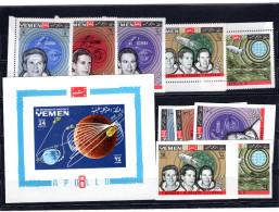 8514 Jemen Königreich, Yemen Kingdom Mnh Mi 652-656 A+B, Block 150 Apollo 8 Space - Yemen