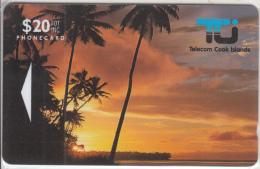 COOK ISL (GPT) - Sunset In Rarotonga, First Iussue $ 20, CN : 01CID, Tirage 10400, 10/92, Mint - Cook Islands