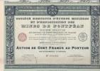 ACTION 100 FRS -SOCIETE BRETONNE D´EUDES MINIERES ET D´EXPLOITATION DES MINES DE PONTPEAN-35-  ANNEE 1929 - Mines