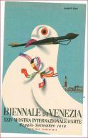6478 PUBBLICITARIA BIENNALE VENEZIA 1948 ILLUSTRATA NON VIAGGIATA - Venezia (Venedig)