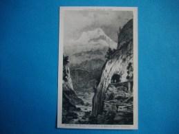 Les HAUTES ALPES En 1800  -  05  -  La Route Du Bourg D'Oisans à La Grave  -  Dessin -  Hautes Alpes - France