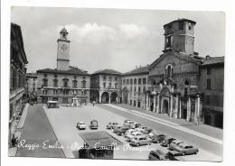 REGGIO EMILIA  PIAZZA CAMILLO  PRAMPOLINI VIAGGIATA FG ( MACCHIE INCHIOSTRO SUL DIETRO) - Reggio Emilia