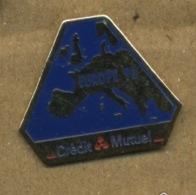D# - PIN´S:   EUROPE 93 CREDIT MUTUEL - Banken