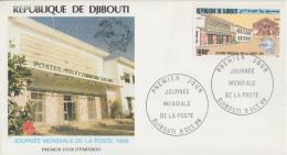 Enveloppe  FDC  1er  Jour   DJIBOUTI    Journée  Mondiale  De  La  POSTE    1988 - Djibouti (1977-...)