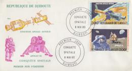 Enveloppe  FDC  1er  Jour    REPUBLIQUE   De   DJIBOUTI    Conquête  Spatiale    1980 - Djibouti (1977-...)