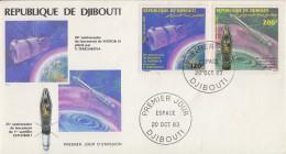 Enveloppe  FDC  1er  Jour    REPUBLIQUE   De   DJIBOUTI    ESPACE    1983 - Djibouti (1977-...)