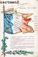 SOUVENIR DU REGIMENT DE CHASSEURS A PIED § ALPINS CARTE PATRIOTIQUE DRAPEAU FRANCAIS PATRIOTISME GUERRE 1914 - Regimenten