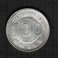JAPAN   100 YEN SILVER 1964 (SHOWA 39) (Y # 79) - Japan