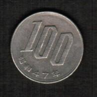 JAPAN   100 YEN 1972 (SHOWA 47) (Y # 82) - Japan