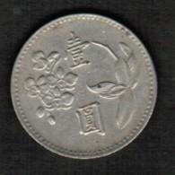 TAIWAN   1 YUAN 1960 (YEAR 49) (Y # 536) - Taiwan