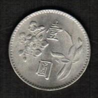 TAIWAN   1 YUAN 1974 (YEAR 63) (Y # 536) - Taiwan