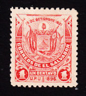 El Salvador, Scott #159, Mint Hinged, Coat Of Arms, Issued 1897 - El Salvador