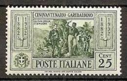 1932 Italia Italy Regno GARIBALDI 25c. Verde (317) MNH** - Storia