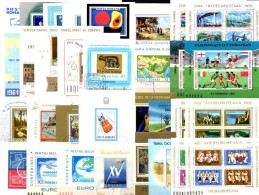 32 Topics Blocs Rumänien Bl.39 43 53 57 59 61 64 81 84 106 107 147 To 264 **/o 210€ Sport M/s History Sheets Bf Romania - Timbres