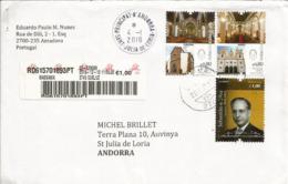 Cathédrales De Funchal (ile De Madeira) & Angra (iles Açores), Lettre Recommandée Adressée ANDORRE - 1910-... Republik