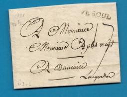 Haute Saone - Vesoul Pour Beaucaire (Gard). Taxe Manuscrite 17. 1788 - Marcophilie (Lettres)