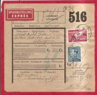 BRFE-7354 GENT  H3H      OP SPOEDBESTELLING- EXPRES OP SPOORWEGDOCUMENT - 1936-51 Poortman