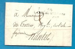 Morbihan - La Roche Bernard Pour Nantes (ile FEYDEAU). Cachet D'arrivée De Nantes Au Verso. 1812 . Lettre Signée POTHION - Marcophilie (Lettres)