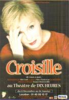 """Carte Postale édition """"Dix Et Demi Quinze"""" - Nicole Croisille (de Vous à Moi...) Au Théâtre De Dix Heures - Entertainers"""